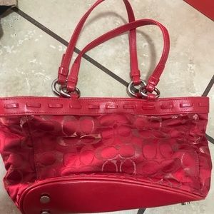 Authentic coach red purse small